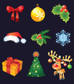 Vector Christmas set — Stock Vector