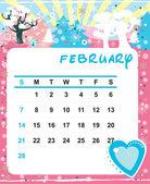 February — Stock Vector