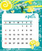 April — Stock Vector