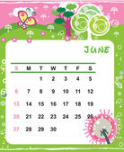 June — Stock Vector