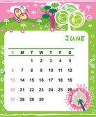 June — Stock Vector