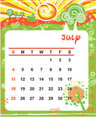July — Stock Vector