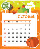 October — Stock Vector
