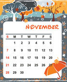 November — Stock Vector
