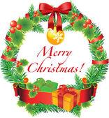 векторные рождественские украшения — Cтоковый вектор
