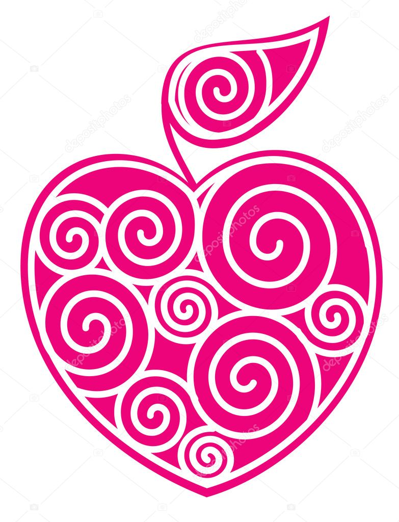 Apple-heart  Stock Vector #1237160