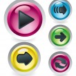Royalty-Free Stock Vector Image: Set of glossy buttons