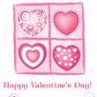 Royalty-Free Stock Imagen vectorial: Valentine\'s day card. vector