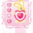 Valentine's day card. vector - Stock Vector