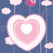 Royalty-Free Stock Vektorgrafik: Valentine\'s day card. vector