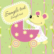 Baby arrival announcement card — Stock Vector