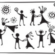 Drawing pictograms of dancing — Stockvektor