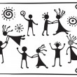 Drawing pictograms of dancing — Image vectorielle