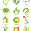 Set of abstract elements - Stock Vector