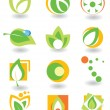 Set of abstract elements — Imagens vectoriais em stock