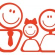 Icon of happy family - Stock Vector