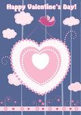Valentine's day card. vector — Stok Vektör