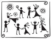 Drawing pictograms of dancing — Stock Vector