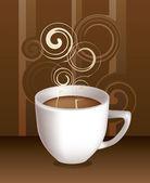 Cup of coffe. Vector — Stock Vector