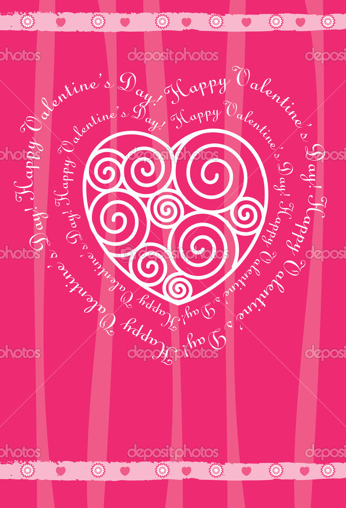 Valentine's day card. vector — Stock Vector #1246647