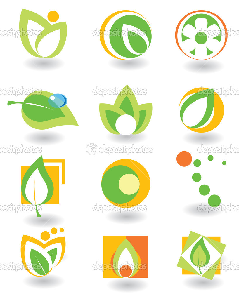 Set of abstract elements. Nature  Stock Vector #1249193