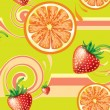 Stock Vector: Seamless background with fruits