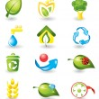 Set of nature icons — Stock Vector