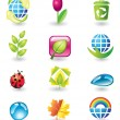 Set of nature design elements — Stock Vector #1250341