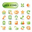 Vector web icon set — Vector de stock