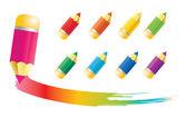 Iconos de lápiz — Vector de stock