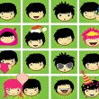 Royalty-Free Stock Vector Image: Expressions of boy\'s face
