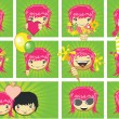 Expressions of girls — Stock Vector #1265081