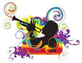 Trumpeter — Stock Vector