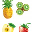 Set of fruit — Stock Vector