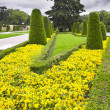 Stock Photo: Flower beds and avenues