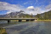 The bridge through the river. — Stock Photo