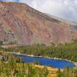 The huge red mountain and lake Tioga — Stock Photo #2614905