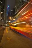 Night bus — Stock Photo