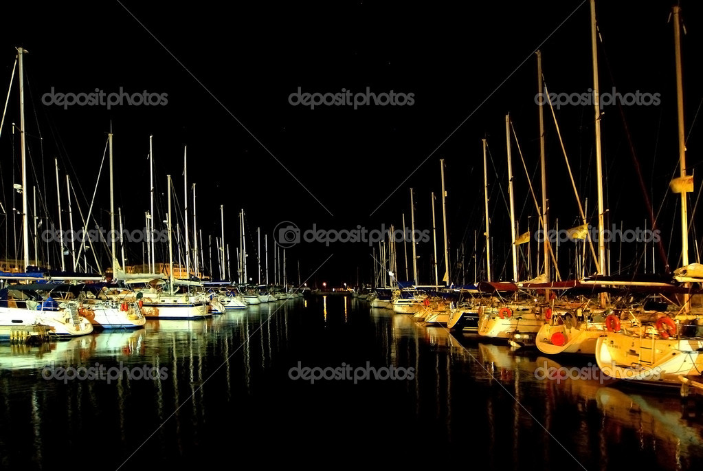 Silent evening in an Herzliya marina.  Stock Photo #2629484