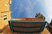Balcone della casa antica — Foto Stock