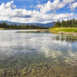 Shallow northern lake — Stock Photo