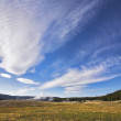 Flying clouds above Yellowstone  park — Stock Photo