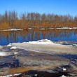 Driving of ice on river — Stock Photo #1218325