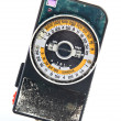 Retro exposure meter — Stock Photo