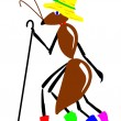 Drawing ant on white background — Stock Photo #1253135