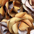 Royalty-Free Stock Photo: Artificial flowerses from birch bark