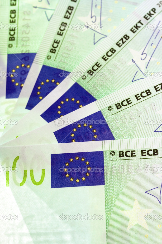 Heap of euro close up — Stock Photo #1247527
