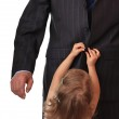 Businessman with little daughter. — Stock Photo #1233794