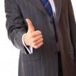 A businessman shows a gesture. — Stock Photo #1233937
