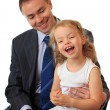 Royalty-Free Stock Photo: Businessman with little daughter.